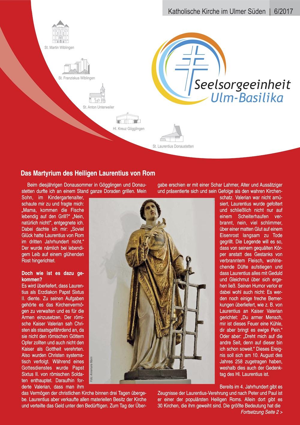 Katholische Kirche im Ulmer Süden 6-2017