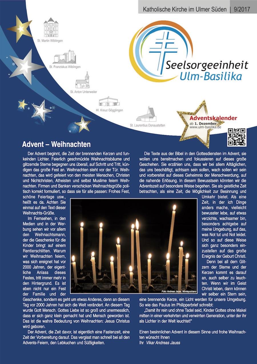 Katholische Kirche im Ulmer Süden 9 -2017