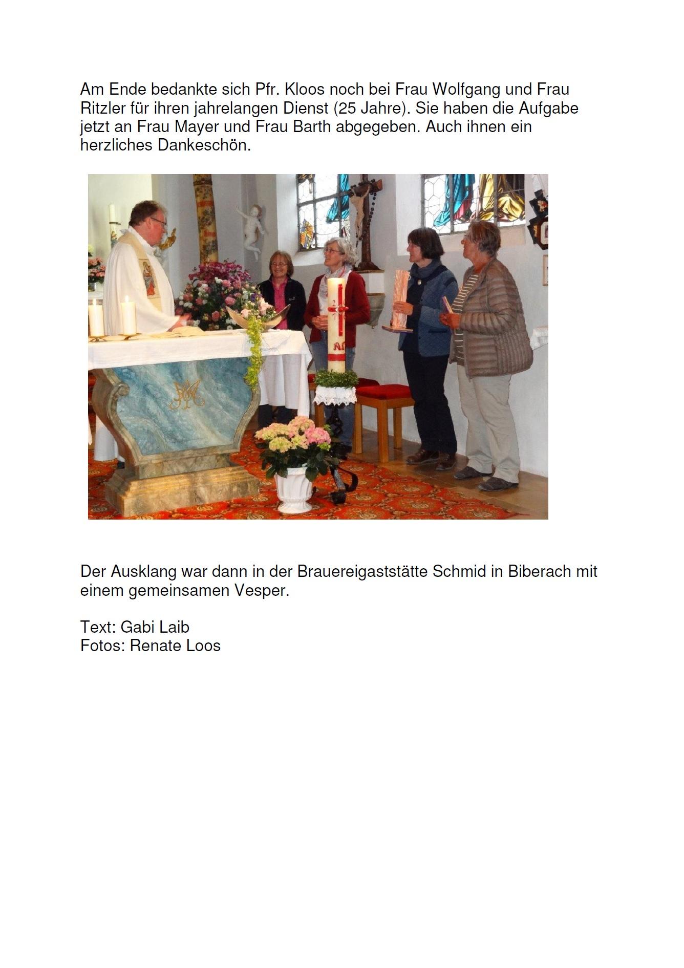 Maiandacht im Wannenkapelle - Rückblick 2016 - 1