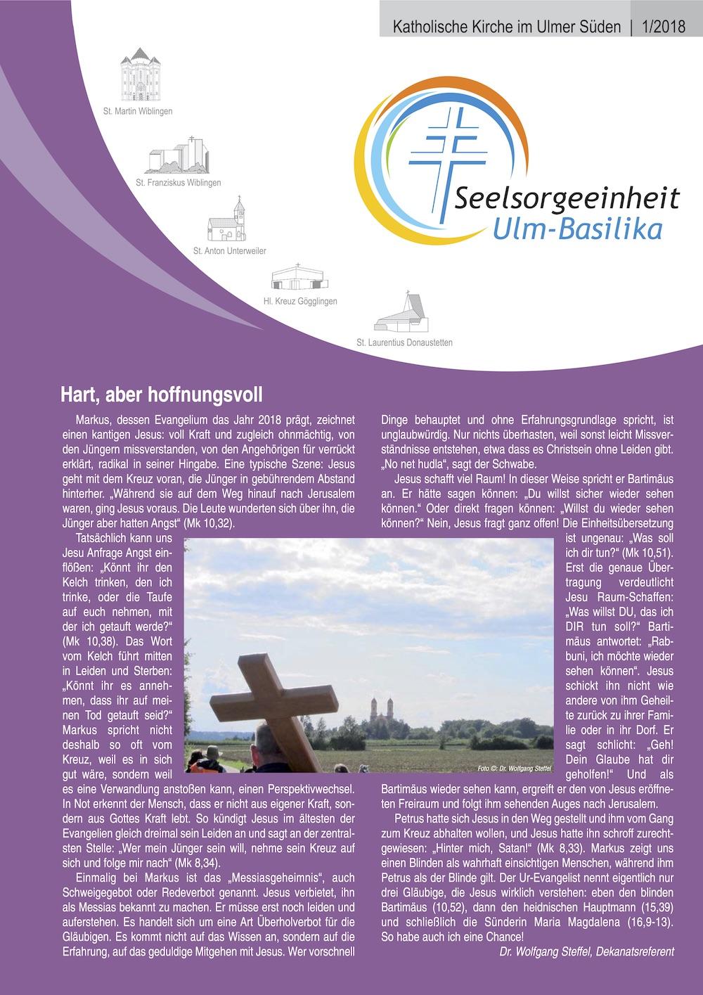 Katholische Kirche im Ulmer Süden 1-2018