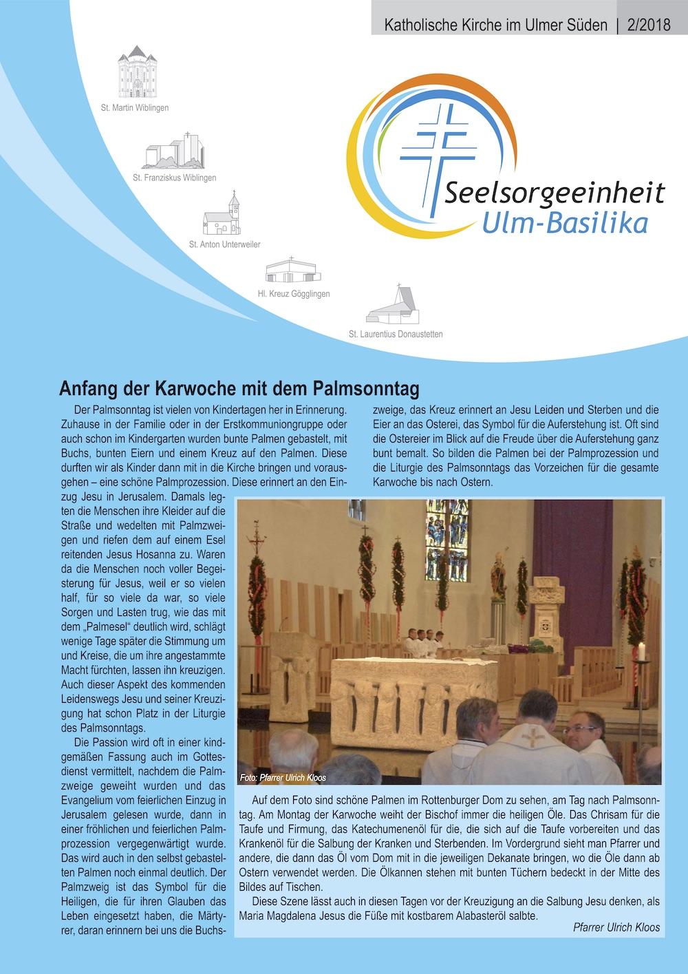 Katholische Kirche im Ulmer Süden 2-2018