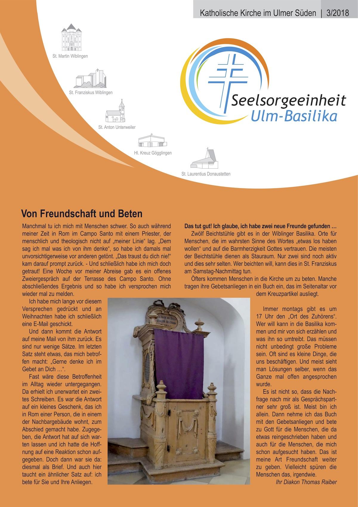Katholische Kirche im Ulmer Süden 3-2018