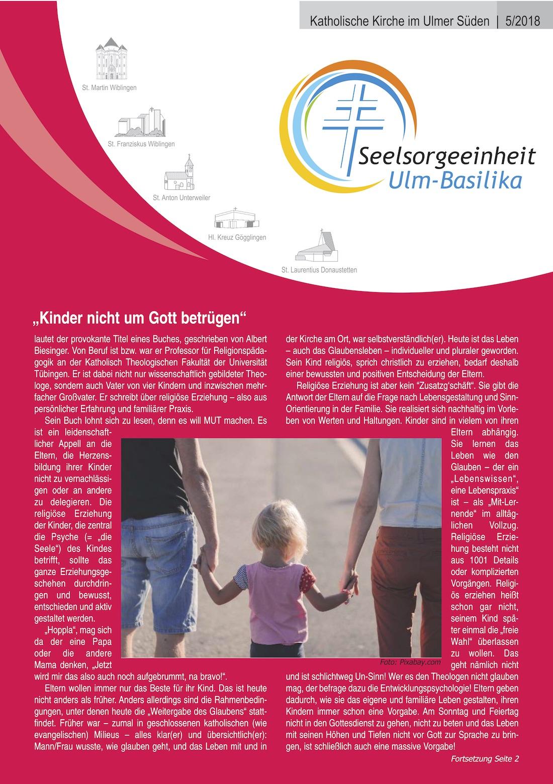 Katholische Kirche im Ulmer Süden 5 - 2018