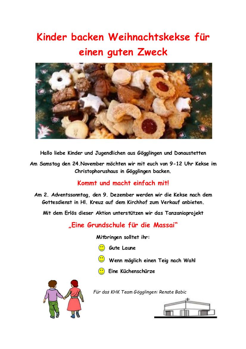 Gute Weihnachtskekse.Kinder Backen Weihnachtskekse Für Einen Guten Zweck Ulm Basilika