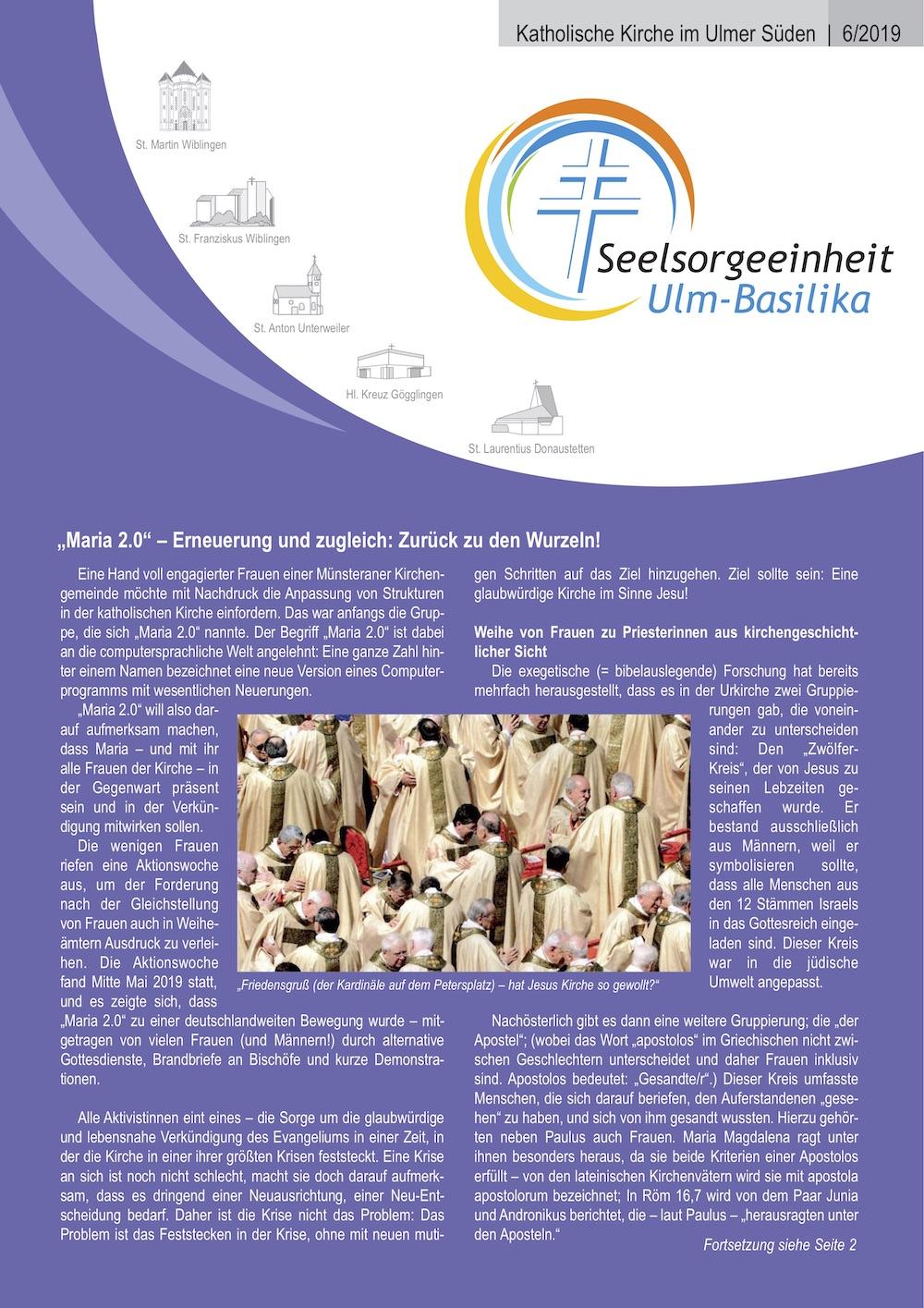 Katholische Kirche im Ulmer Süden 6 - 2019