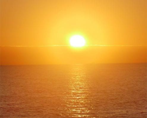 Sonnenuntergang Kreuz - Firmung